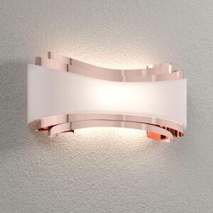 Selene Nástenné LED Ionica, meď so sklenenou clonou