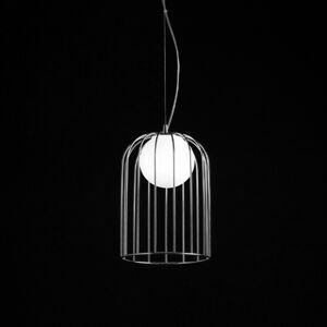 Selene Kluvi – chrómovaná závesná lampa, 18cm