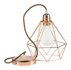 Segula SEGULA Diamant závesná lampa v medenej