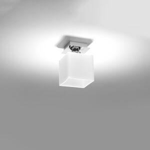 SOLLUX Stropné svietidlo Block, opál/chróm, 1-plameňové