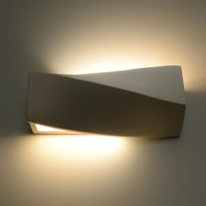 SOLLUX Nástenné svetlo Turn Mini keramika, up/down, biele
