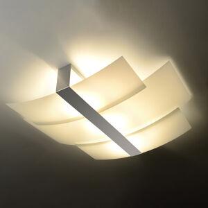 SOLLUX Stropné svietidlo Shifted, 3 sklenené časti, chróm