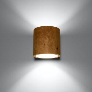 SOLLUX Nástenné svietidlo Ara ako valec z dreva