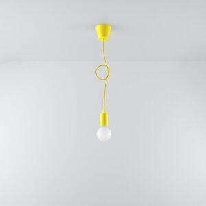 SOLLUX Závesná lampa Brasil, žltá, jedno-plameňová