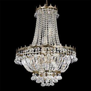 Searchlight Krištáľový visiaci luster Versailles zlatý 55cm
