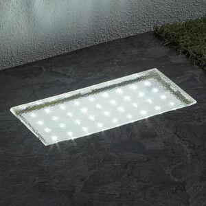Searchlight Obdĺžnikové zapustené podlahové LED Walkover 20cm