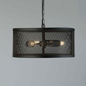 Searchlight Závesná lampa Fishnet z kovu v čiernom Ø 45cm