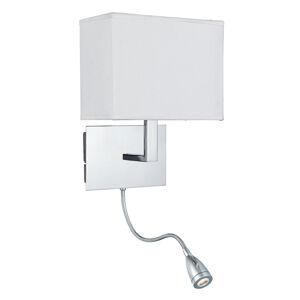Searchlight Nástenné svietidlo 6519 s LED na čítanie, chróm