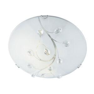 Searchlight Sklenené stropné svietidlo Flush Flower, Ø 40cm