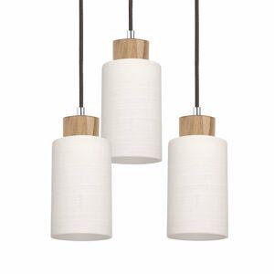 Spot-Light Závesná lampa Bosco okrúhla olejovaný dub, 3-pl
