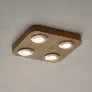 Spot-Light 4-plameňové stropné LED svietidlo Sunniva dub
