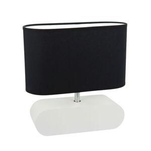 Spot-Light Stolná lampa Marinna biely, tienidlo čierne