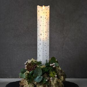 Sirius LED sviečka Sara Calendar biela/romantika V 29cm