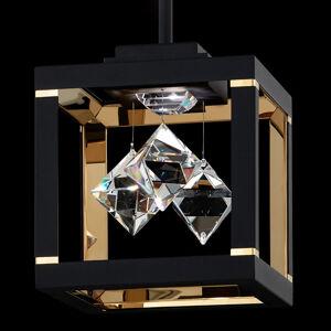 Swarovski Swarovski Fyra závesná lampa 3000K 20x20cm čierna