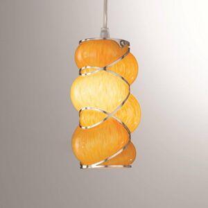 Siru Vznešená závesná lampa Orione, oranžová