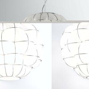 Siru Závesná lampa Pouff v bielej a ušľachtilej oceli