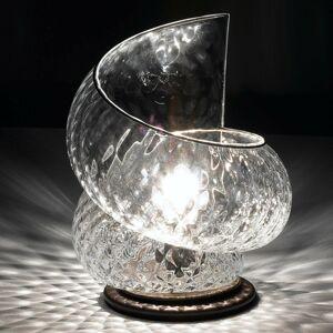 Siru Stolná lampa Chiocciola s čírym sklom