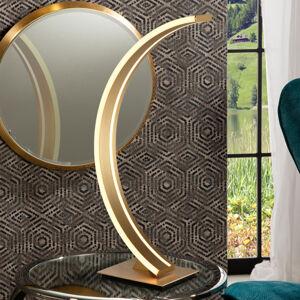 Schuller Oblúková stolná LED lampa Arcus so zlatou úpravou