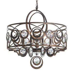 Schonbek Schonbek Gwynn kryštálová závesná lampa 71cm bronz
