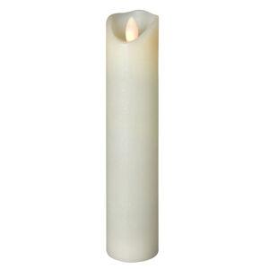 Sompex LED sviečka Shine, Ø 5 cm, slonovinová, V 22,5 cm