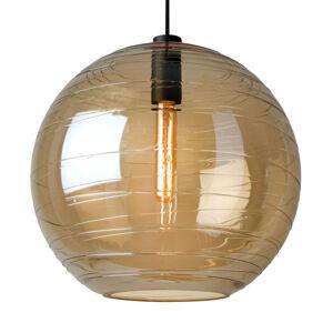 Sompex Závesná lampa Lantaren, sklo jantárové