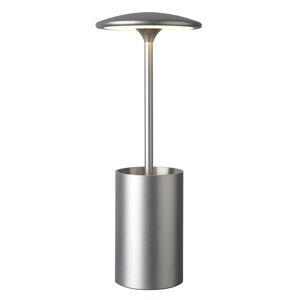 Sompex Stolná LED lampa Pott s priestorom, strieborná