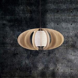 SIGMA Závesná lampa Modern A L drevené lamely, Ø 60cm