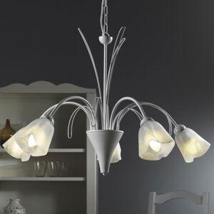 ONLI Závesná lampa Antea s 5 alabastrovými tienidlami