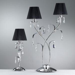 ONLI Stolná lampa Jacqueline, dvoj-plameňová, čierna
