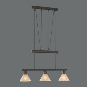 Trio Lighting Vznešená závesná lampa Vlak, 3-plameňová