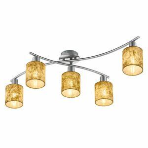 Trio Lighting Zlaté plastové tienidlá – stropné svietidlo Garda