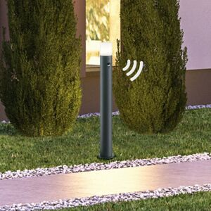 Trio Lighting Chodníkové svietidlo Hoosic antracit detektor