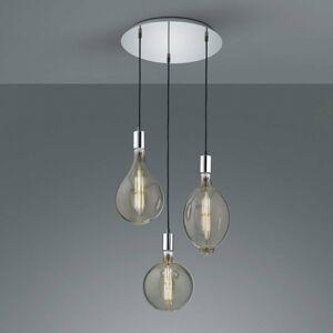 Trio Lighting Závesné LED svietidlo Ginster 3-pl. chróm okrúhle