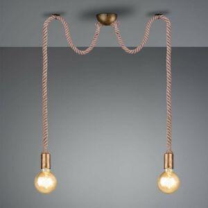 Trio Lighting Závesná lampa Rope dekoratívne lano 2-plameňová