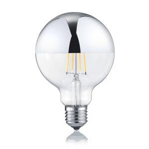 Trio Lighting LED globe E27 7W 2700K stmievateľná zrkadlová