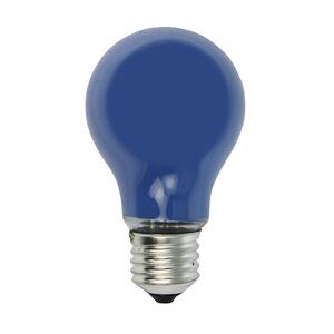 Heitronic E27 40W modrá žiarovka pre svetelnú reťaz
