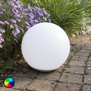 Heitronic Plávajúca solárna LED svietiaca guľa Globo