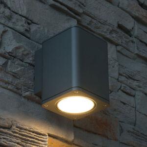Heitronic Vonkajšie nástenné LED Tocho, hranaté, downlight