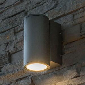 Heitronic Vonkajšie nástenné LED Doble, okrúhle, downlight