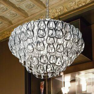 Vistosi Závesná lampa krištáľové sklo Minigiogali chróm