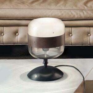 Vistosi Dizajnová stolná lampa Futura zo skla, 29cm
