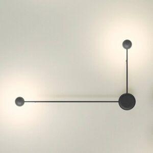 Vibia Vibia Pin – 2-plameňové nástenné LED svetlo čierne
