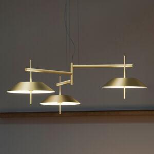 Vibia Vibia Mayfair – LED závesné svietidlo 3-pl. zlaté