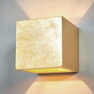 Lindby Nástenné svietidlo Yade v tvare kocky, zlaté