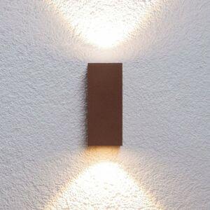 Lucande Vonkajšie nástenné LED svietidlo Tavi hrdzavohnedé