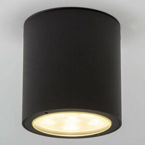 Lucande Okrúhle stropné LED svietidlo Meret vonkajšie IP54
