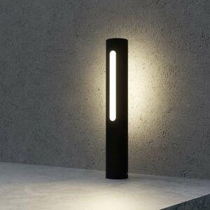 Lucande Soklové LED svietidlo Tomas v tmavosivej