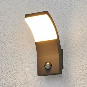 Lucande Vonkajšie nástenné LED svietidlo Timm s detektorom