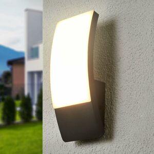 Lucande Vonkajšie nástenné LED svietidlo Siara tmavosivé