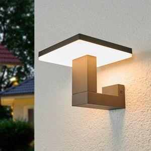 Lucande Vonkajšie nástenné LED svietidlo Olesia hranaté
